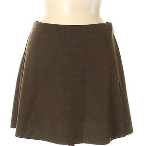 Zara Trafaluc Olive Green Flared Skirt Size Small